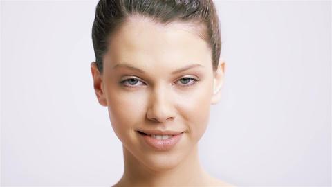 Beautiful Woman Smile Stock Video Footage