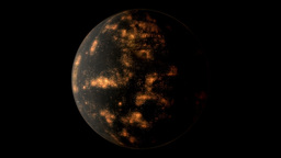 Coruscant planetary model Stock Video Footage