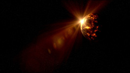 Alien Planet and Sun Rise Stock Video Footage