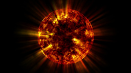 Fire Ball Animation (Sun) stock footage