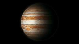 The Planet Jupiter Model Stock Video Footage