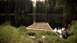 Lake Side Landing Jetty stock footage