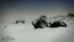 Winter Bench Stock Video Footage