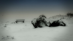 Winter Bench stock footage