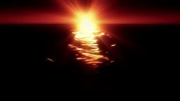 Ocean Sun Flare Stock Video Footage