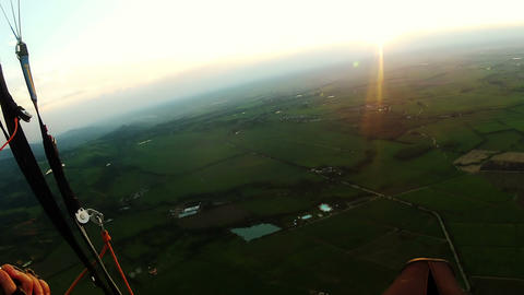 parapente 01 Stock Video Footage
