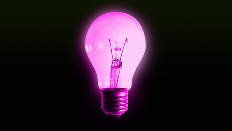 color bulb lights alpha Stock Video Footage