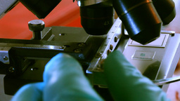 Microscope Stock Video Footage