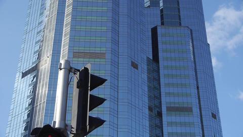 skyscraper & worker in Beijing,CBD tall office buildings,traffic light Footage