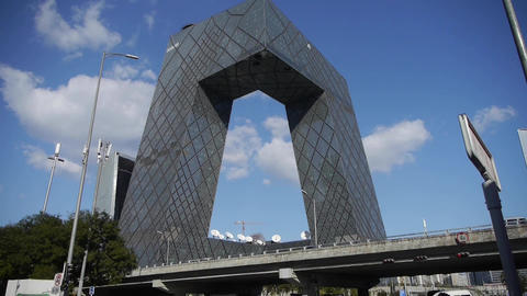 business building district in beijing China Stock Video Footage