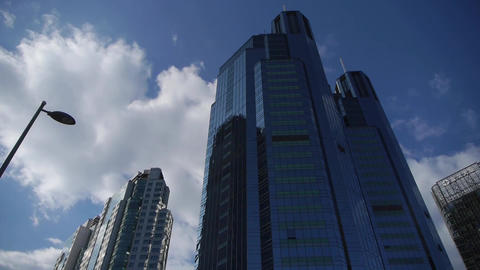 skyscraper,business tall office buildings district Stock Video Footage