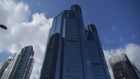 skyscraper,business tall office buildings district Footage