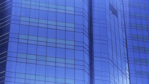closeup skyscraper glass windows,business buildings... Stock Video Footage