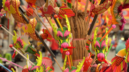 Chinese Dragon Hand Drums Stock Video Footage