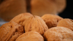 Walnuts Loop Rotating stock footage