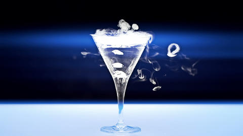 Martini Glass Footage