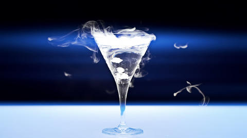 Martini Glass Stock Video Footage