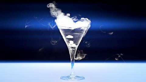 Martini Glass Stock Video Footage