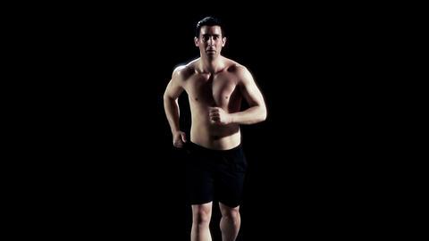 Running On Treadmill Slow Motion Footage