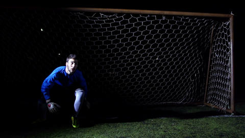 Football Goalkeeper Stock Video Footage