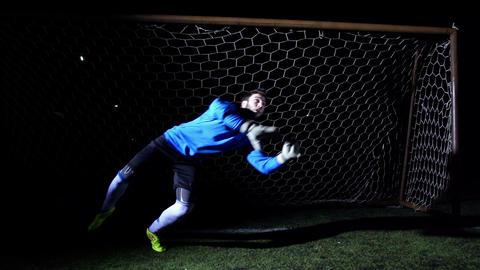 Football Goalkeeper Stock Video Footage
