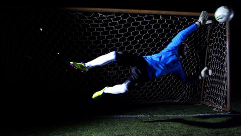 Football Goalkeeper stock footage
