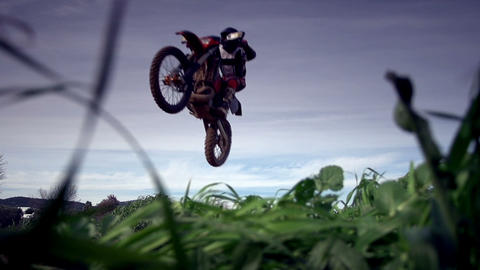 Motocross Jump stock footage