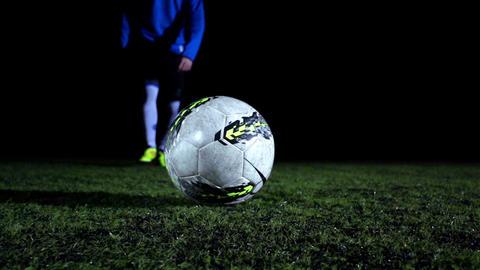 Soccer Ball Kick Stock Video Footage