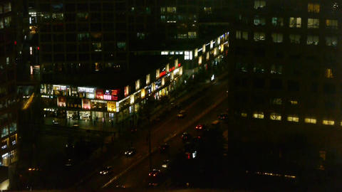 aerial night traffic in an urban city,China Stock Video Footage
