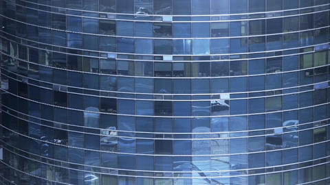 closeup skyscraper glass windows reflect ,business... Stock Video Footage