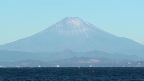 Japanese landscape、Sea and Mt. Fuji GIF