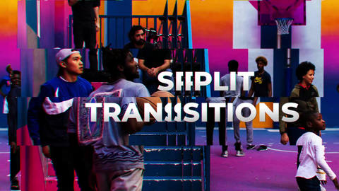 Split Transitions After Effects Template