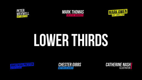 Minimal Lower Thirds Premiere Pro Template