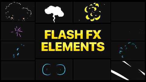 Cartoon Flash FX Apple Motion Template