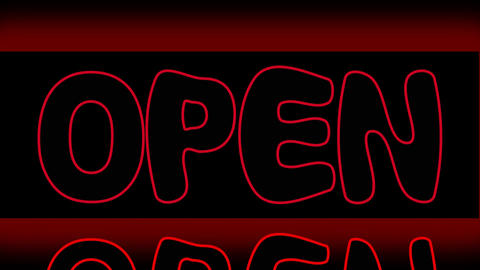 Open advice, neon inscription with animated letters and flash effects Animation