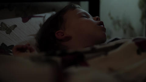 Relaxation, Sweet Dreams, Childhood, Family Concepts - Tight close up Little 2-3 Live Action