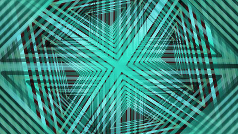 Abstract green geometric patterns, rotating, overlapping, kaleidoscopic ornament Animation