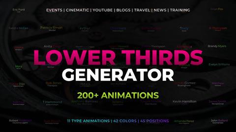 Lower Thirds Generator