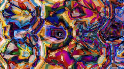 Digital Rendering Asymmetric Grid Creative Pattern Animation