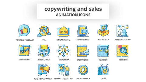 Copywriting & Sales - Animation Icons After Effects Template