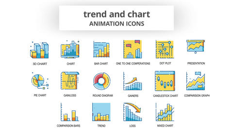 Trend & Chart - Animation Icons After Effects Template