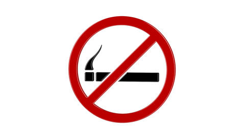 No smoking sign Animation