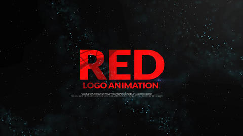 Red Logo Intro After Effects Template