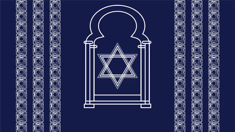 Video for major Jewish holiday Rosh Hashanah, the New Year. The window of the sy Animation
