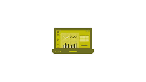 Computer laptop info graphic. Animation with alpha channel Animation