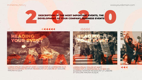 One Year in the History After Effects Template