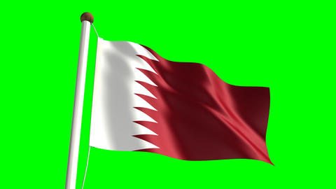 Qatar flag Stock Video Footage