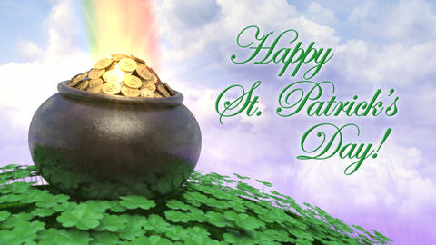 St Patricks Day Title Intro Stock Video Footage