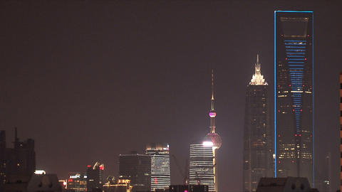 Shanghai skyscrapers Stock Video Footage