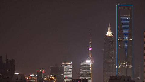 Shanghai Skyscrapers stock footage